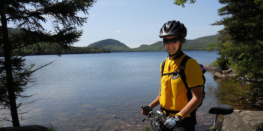 Kara Wooldrik in Acadia National Park
